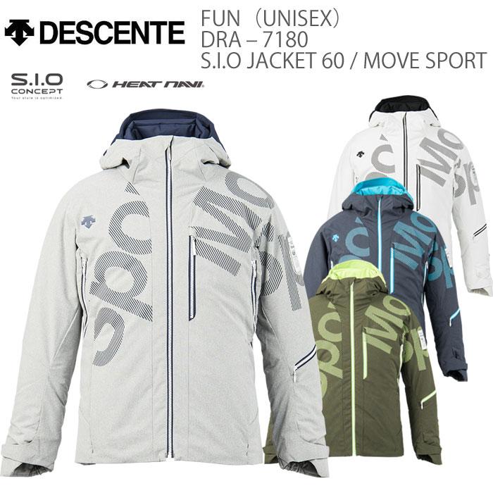 スキーウェア ジャケット/DESCENTE デサント FUN S.I.O JACKET 60/MOVE SPORT DRA-7180(2017/2018)