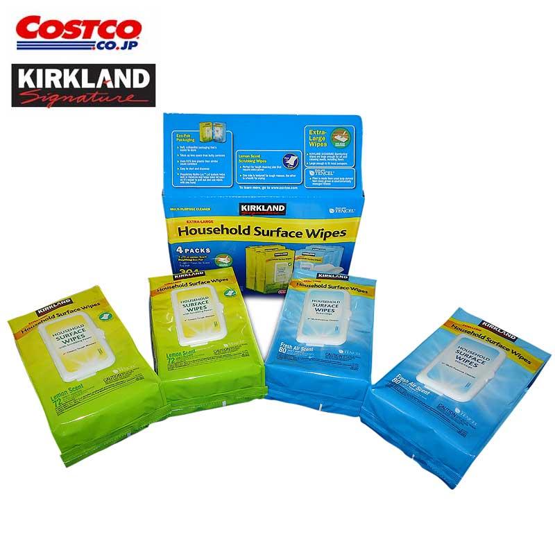 【送料無料】コストコ Costco KIRKLAND(カークランド) ハウスホールド ワイプ ウエットティッシュ 4パック【ITM/914131】