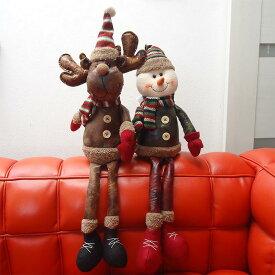【本州送料無料】コストコ Costco クリスマス 縫いぐるみ シェルフシッターズ トナカイ(ムース)とスノーマン(雪だるま)【ITEM/1900223】