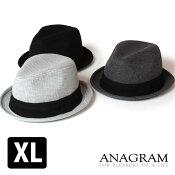 【即納】ANAGRAMアナグラムワッフルサーマルハット中折れハット大きいサイズ帽子メンズレディースF56cm〜58cmXL59cm〜61cm