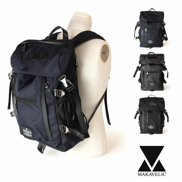 10%OFFクーポン対象★【即納】マキャベリック MAKAVELIC リュックサック チェイスダブルラインバックパック CHASE DOUBLE LINE BACKPACK