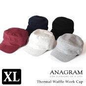 【即納】ANAGRAMアナグラムサーマルワークキャップ大きいサイズ帽子紫外線防止UVカットメンズレディース