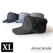 【即納】ANAGRAMアナグラムヒッコリーシャンブレーワークキャップ大きいサイズ帽子紫外線防止UVカットメンズレディース