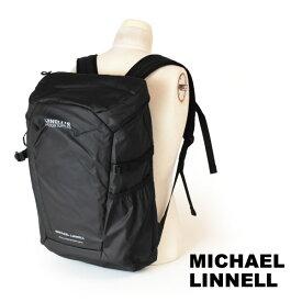 クーポン対象 マイケルリンネル MICHAEL LINNELL リュックサック バックパック デイパック アーミーコーティング 29L A.R.M.Sシリーズ 多機能 メンズ ブラック MLAC-01