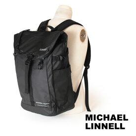 クーポン対象 マイケルリンネル MICHAEL LINNELL リュックサック バックパック デイパック アーミーコーティング 31L A.R.M.Sシリーズ 多機能 メンズ ブラック MLAC-04