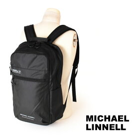 クーポン対象 マイケルリンネル MICHAEL LINNELL リュックサック バックパック デイパック アーミーコーティング 23L A.R.M.Sシリーズ 多機能 メンズ ブラック MLAC-05