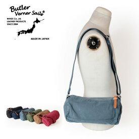 ポイント10倍!! バトラーバーナーセイルズ Butler Verner Sails キャンバスミニロールショルダーバッグ 反応染め ボディバッグ 鞄 かばん カバン メンズ レディース