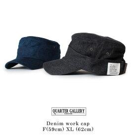 クーポン対象 QUARTER GALLERY クオーターギャラリー デニムワークキャップ 大きいサイズ 帽子 F[59cm] XL[62cm] ANAGRAM アナグラム メンズ レディース