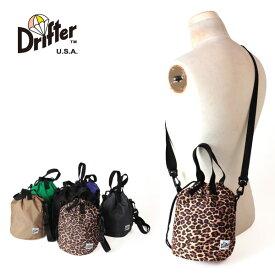 クーポン対象 ドリフター 正規品 Drifter ドローストリングポーチ ショルダーバッグ 巾着 2way 手提げ 肩掛け DRAWSTRING POUCH DFV1200