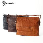 esperanto/エスペラント/イタリアレザー/ショルダーバッグ/トートバッグ/4wayバッグ/メンズ/レディース/かばん/鞄