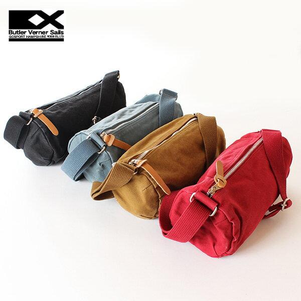 【即納】バトラーバーナーセイルズ Butler Verner Sails キャンバスミニロールショルダーバッグ 反応染め ボディバッグ 鞄 かばん カバン メンズ レディース