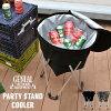 スタンド式クーラーバスケット30L[クーラーバッグクーラーボックス保冷バッグリアルツリーカモ迷彩軽量パーティースタンドクーラーバーベキュー缶ビール給水保冷折りたたみキャンプアウトドアかごカゴ行楽運動会花見人気送料無料]