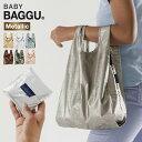 BABY BAGGU メタリック [エコバック サブバッグ 折りたたみ ショッピングバッグ 買い物 バッグ 軽量 おしゃれ 買い物 …