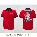 ●送料無料(沖縄除く)【Br】Carp × Brunswick・ボウリングレトロシャツ