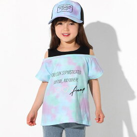 ANAP KIDS アナップキッズ タイダイレイヤード風トップス キッズ 春夏 トップス Tシャツ ピンク/ブルー S/M/L tシャツ