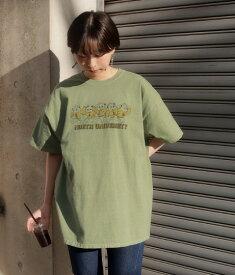 【50%OFF】Factor= ファクターイコール Bear プリントTシャツ レディース 春夏 トップス Tシャツ イエローグリーン/オフホワイト/グレー/ブラック onesize tシャツ