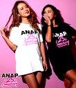 ANAP 25th Anniversary Tシャツ【アナップ ANAP レディース トップス ブラック ホワイト 黒 白 25 th Anniversary ...