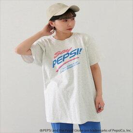 【50%OFF】Factor= ファクターイコール PEPSIプリントTシャツ レディース 春夏 トップス Tシャツ ライトグレー onesize tシャツ
