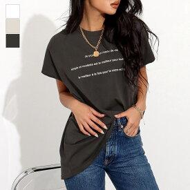 【25%OFF】anap Latina アナップラティーナ レタリングゆるTシャツ レディース 春夏 トップス Tシャツ チュニック アッシュブラック/オフホワイト/ライトグレー onesize tシャツ