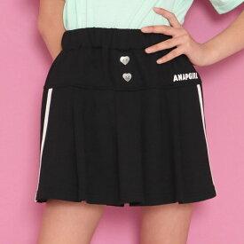 【10%OFF】ANAP GiRL アナップガール サイドラインフレアスカパン ガール 春夏 ボトムス・パンツ スカート ショートパンツ 中学生 ファッション ティーンズ 韓国 ブラック XS/S/M