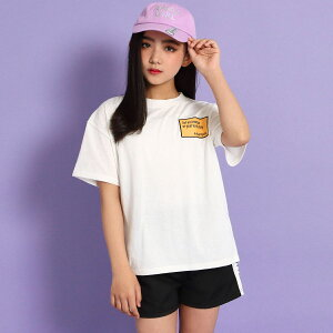 【35%OFF】ANAP GiRL アナップガール Tシャツ+ラインショートパンツセットアップ ガール 春夏 トップス Tシャツ ショートパンツ 中学生 ファッション ティーンズ 韓国 ホワイト/ライム XS/S/M t