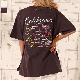 【50%OFF】anap mimpi アナップミンピ USAコットンマップ刺繍ビッグTシャツ レディース 春夏 トップス Tシャツ ダークグレー/ホワイト onesize tシャツ