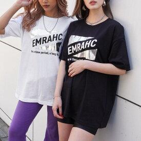【50%OFF】ANAP アナップ 箔トライアングルプリントTシャツ レディース 春夏 トップス Tシャツ ブラック/ホワイト onesize tシャツ