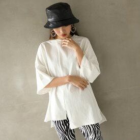 【50%OFF】ANAP アナップ アシンメトリーオーバーサイズTシャツ レディース 春夏 トップス Tシャツ アッシュブラック/オフホワイト onesize tシャツ