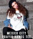 【20%OFF】「MEXICO CITY」Tシャツ【アナップ ANAP レディース トップス カーキ ブラック ホワイト 緑 黒 白 MEXICO CITY T...