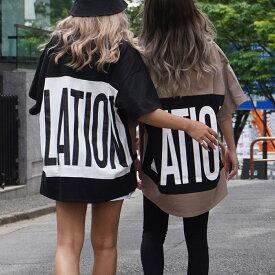 【50%OFF】ANAP アナップ ビッグロゴバイカラーTシャツ レディース 春夏 トップス Tシャツ オフホワイト/ブラック/モカ onesize tシャツ