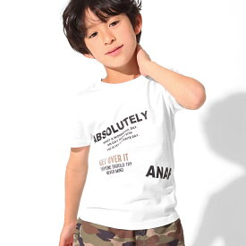 【50%OFF】ANAP KIDS アナップキッズ 制菌ロゴプリントTシャツ キッズ 春夏 トップス Tシャツ カーキ/ピンク/ホワイト S/M/L tシャツ