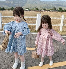 送料無料 子供服 ワンピース 女の子 子ども服 ドレス 子供 キッズドレス 韓国子供服 長袖 ワンピース 花柄 ワンピ 可愛い お嬢様風 ドレス 結婚式 オシャレ 新作 110cm 120cm130cm140cm150cm160cm