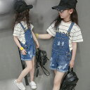 送料無料 韓国子供服 ジーンズ サロペット ボトムス/BOTTOMS パンツ/PANTS キッズ新しい韓国風 女の子 デニムサスペン…
