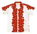 手ぬぐいアロハシャツ「まっかなトマト」S・M・Lサイズクールビズ/エコ/父の日/おとうさん