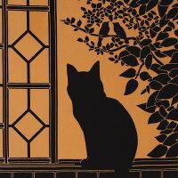 【2011年新作】【7月25日販売開始】手ぬぐい「2階の猫橙」ねこ/ネコ/窓辺