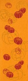 手ぬぐい「おばけかぼちゃオレンジ」