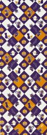 【8月31日販売開始】【2018年新作】手ぬぐい「黒猫ハロウィン紫系」ハロウィン/Halloween/オバケ/黒猫/かぼちゃ/コウモリ/手拭/てぬぐい/tenugui