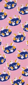 手ぬぐい「ハムスターさん ピンク」干支/子/鼠/ねずみ/ネズミ/ハムスター/mouse/hamster/縁起物/お正月/お年賀/手拭/手拭い/てぬぐい/慶事