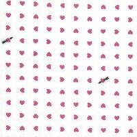 手ぬぐい「ハート豆絞り白地ピンク」バレンタインデー