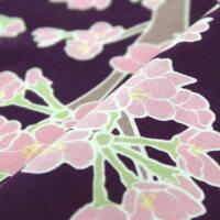 手ぬぐい「桜の花」地紫