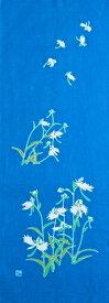 【2020年夏新作】手ぬぐい「鷺草(さぎそう)紺碧(こんぺき)」夏の花/可憐/サギソウ/花柄/手拭/手拭い/てぬぐい