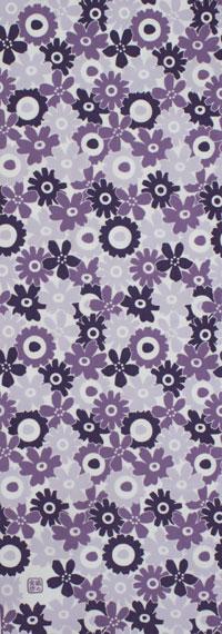 手ぬぐい「フラワーガーデン 灰紫」/花/手拭/手拭い/てぬぐい