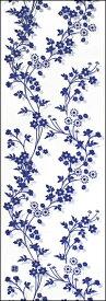 手ぬぐい「つる花」紺