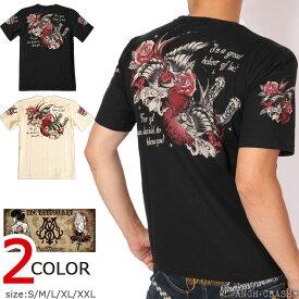 今日は5の付く日★BLOOD MESSAGE スワロー 半袖 Tシャツ BLST-1170 ブラッドメッセージ タトゥー エフ商会 父の日 プレゼント
