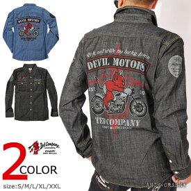TEDMAN テッドマン DEVIL MOTORS シャンブレーシャツ TSHB-1500 エフ商会 長袖