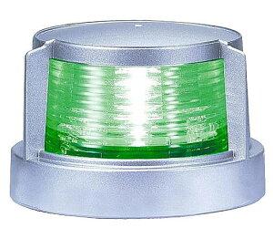 LED 航海灯 げん灯 第2種 右舷 緑色 小糸製作所 MLR-4AB2S シルバー 小型船舶 JCI検査 検定品