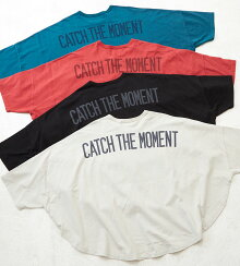 ビッグTシャツ/春新作/CUBESUGAR天竺裾ラウンドクルーネックTシャツ(4色):レディーストップスTシャツバックプリント胸ポケットクルーネック半袖コットン起毛キューブシュガー