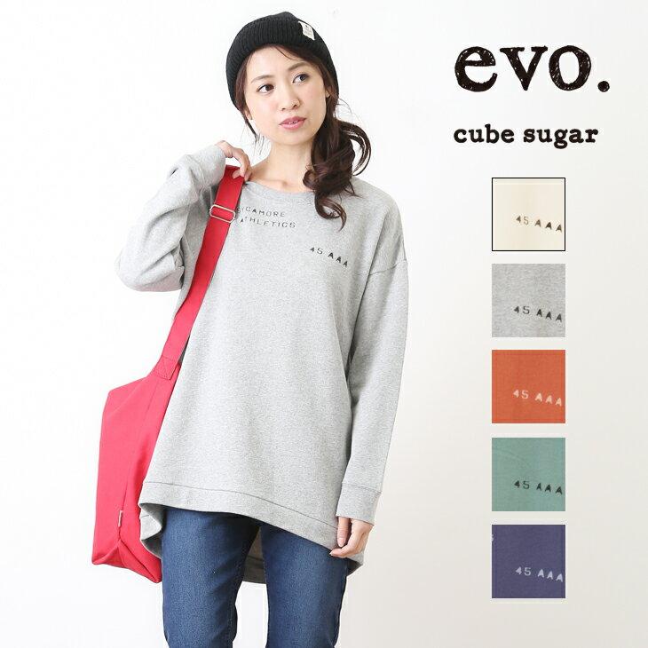 1/12 0:00スタート【再値下げWINTER SALE】【50%OFF】cube sugar evo.(キューブシュガーエボ) 30/10裏毛チュニッククルー(5色)【レディース】【4U】【スウェット】