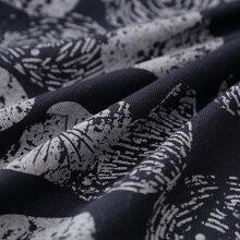 CALINER(カリネ)天竺木の実プリントタック袖チュニック