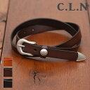 【セール除外商品】C.L.N(シーエルエヌ)牛革コンチョベルト (3色)【レディース】